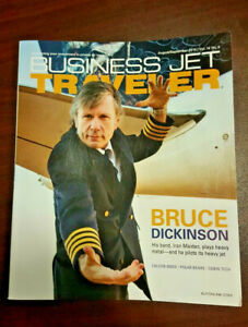 IRON-MAIDEN-Bruce-Dickinson-Business-Jet-Traveler-Magazine-Rare-Metallica-747