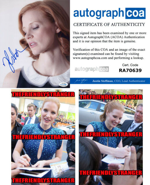 JESSICA CHASTAIN signed Autographed 8X10 PHOTO B - PROOF - IT Chapter 2 ACOA COA