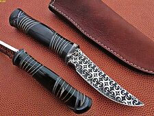 Custom Made J2 Steel Hunting Knife (Buffalo Horn Handle)