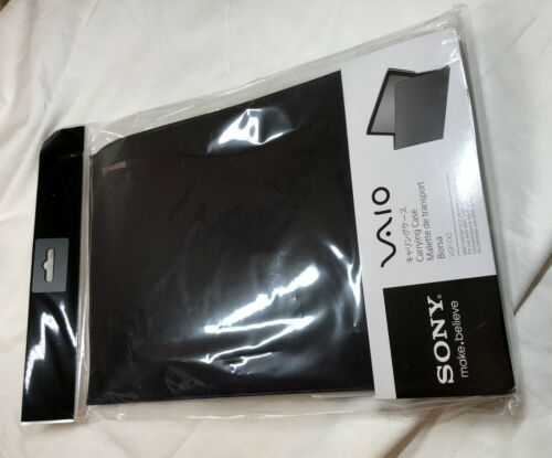 """New Sony VAIO 13/"""" Laptop Slipcover Carrying Case Black"""