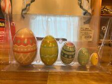 Spritz Easter Spring Pastel Pattern Decor 5ct Wood Nesting Egg Set NEW