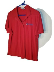 American Access Casualty Company Insurance Woman Size Xl Red Polo Shirt Ebay