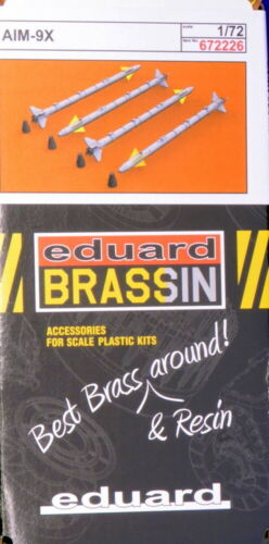 Eduard Brassin 672226 1//72 AIM-9X Missiles 4pcs
