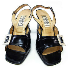 Auth Versace sandals Belt ladies with stone used J7669