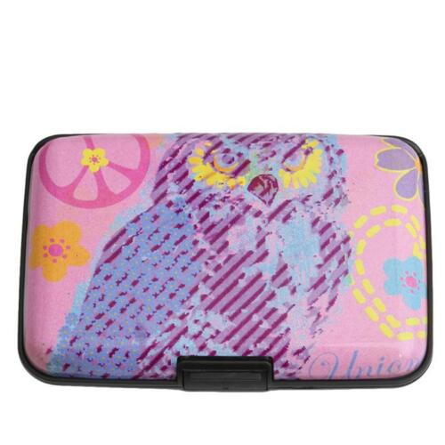Womens Owl Plastic Wallet Credit Card Bag Holder Slim Business Card Pouch G