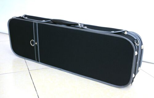 Luxury/&Royal Wooden Violin Case Sturdy/&Durable 3.2kg Black Color Free Shipping