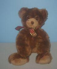 "Cute GUND 14"" Teddy Bear ""Booker"" w/ Glasses Bean Stuffed Plush Lovey #44406"