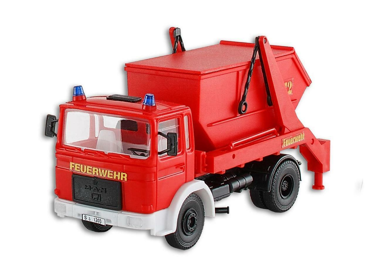 kibri 18271 Spur H0 Feuerwehr UNIMOG mit PALFINGER Kran #Neu in OVP#