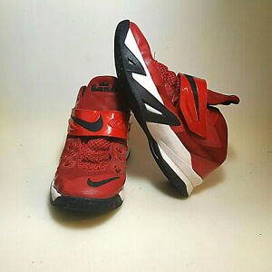 brand new cf638 3a16b Details about Nike Soldier VIII 8 Big Kids 653645-601 Red Lebron Basketball  Shoe Sz 6 No Laces