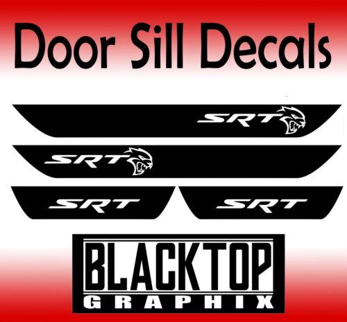 Hellcat SRT Dodge Charger Vinyl Door Sill Decals 2015-2018 6.1 SUPERCHARGED