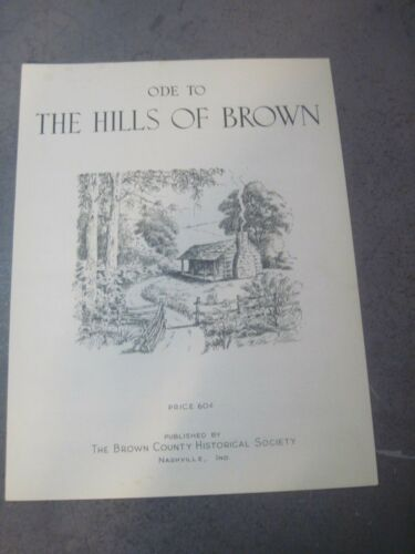 ODE TO THE HILLS OF BROWN 1966 MID CENTURY SHEET MUSIC
