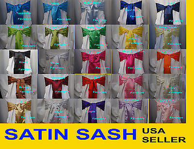 "8""x108"" SATIN SASH Chair Bow Wedding Party Banquet Decorations NEW"