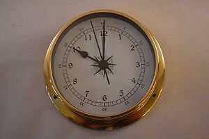 MARINE-STYLE-CLOCK-SOLID-BRASS-CASE-115mm-PROKRAFT-PKR-LMC