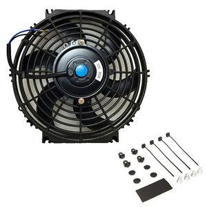 "Blue 9/"" Inch Slim Fan Radiator Push Pull Thin Electric Cooling 12V Jdm Acura"