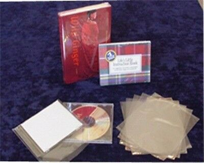 "500 PCS 6X7"" PVC Shrink Film Flat CD Wrap Bags 100 Gauge Heat Shrinking Display"
