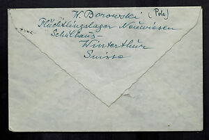 1945-Winterthur-Switzerland-Fugitive-Internment-Camp-Cover-to-Red-cross