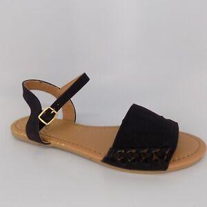 2f60ce316d254 Qupid Archer 516 Huarache Flat Black Women Sandal Size 8.5 EU 39.5 ...
