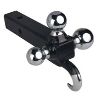 Triple Tri 3 Ball Trailer Hitch Receiver Mount 1 7/8 2 2 5/16 Towing W/ Hook on Sale