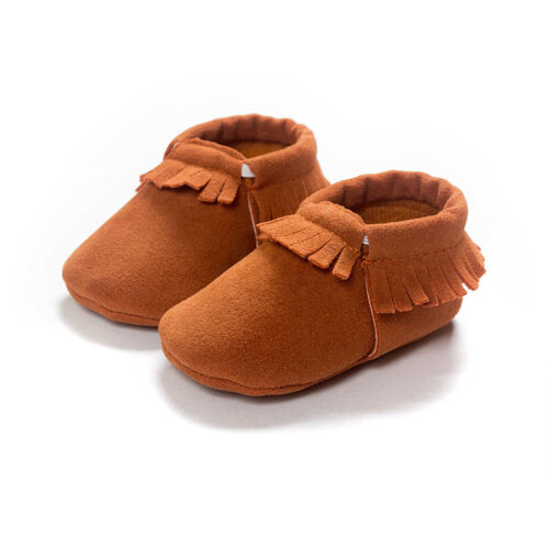 Newborn Baby Infant Shoes Crib Boy Girl Babe Moccasins Moccs First Walkers Shoes