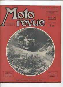 Moto Revue N°850 ; 23 Juin 1939 : 7 Photos Aprés Le Bol D'or