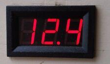 Juego Voltímetro Digital 12v LED Reloj y temperatura indicadores Set Barco Camper