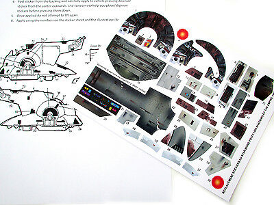 Slave I 1996 Shadows of the Empire CUSTOM STICKERS for STAR WARS POTF SLAVE 1