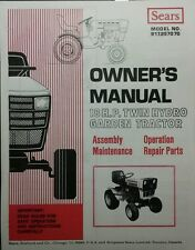 Sears Suburban GT-18 Hydro Garden Tractor Owner, Parts & Onan Service (2 Manuals