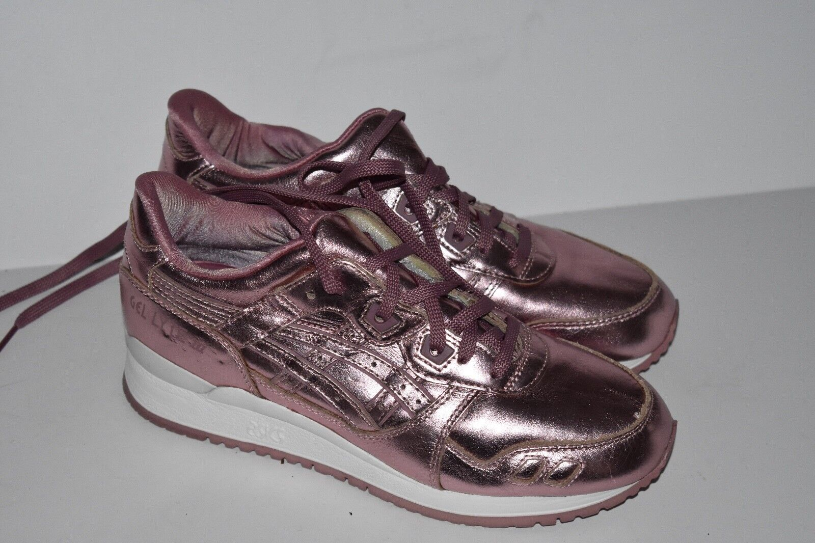 Asics Gel Lyte III Shoes Metallic Rose H6E5K RARE Women Comfortable The most popular shoes for men and women