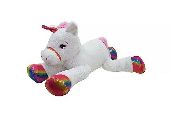 120cm WHITE Giant Unicorn Soft Toy Kids Boys Girls Play Christmas Home Deco Gift