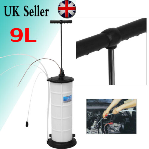 9L Manual Waste Oil Water Suction Extractor Pump Fluid Vacuum Transfer Hand Tank