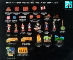 SHELL / Royal Dutch Minaralöl Öl oil Abzeichen Anstecknadeln, Pins ...AUSSUCHEN
