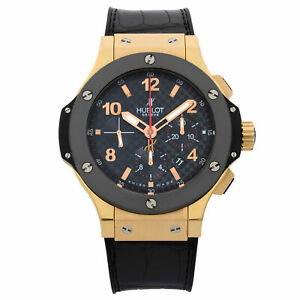 Hublot Big Bang 18K Gold Ceramic Titanium Automatic Mens Watch 301.PB.131.RX