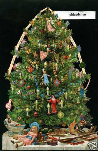 = 1 Bogen Weihnachtsbaum Riesenoblate # GLANZBILDER  # EF 7195B Neuauflage
