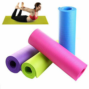 4mm Thick Yoga Mat Exercise Pilates Fitness Camping Gym Non-Slip Meditation Pad