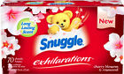Snuggle Exhilarations Fabric Softener Dryer Sheets, Cherry Blossom, 70 Count