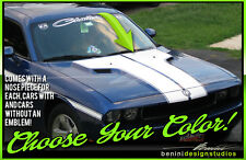 T Hood Racing Stripes Fits 2008 2014 Dodge Challenger Sxt Rt Srt8