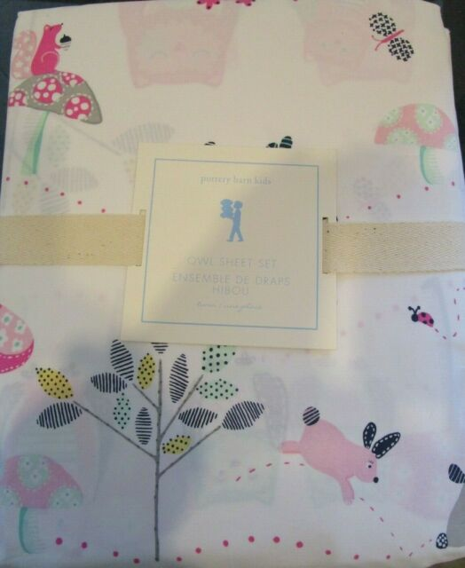 Pottery Barn Kids Twin Owl Sheet Set New Ebay
