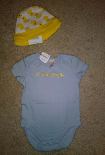 NWT Gymboree Infant Boys Bodysuit Yellow Ducks Hat Size 3-6 Months