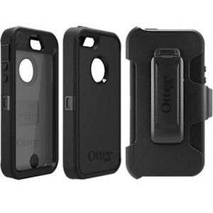 pretty nice 899e3 6592d Details about Otterbox Defender Series Case & Holster Belt Clip for Apple  Iphone 5S, 5 , SE