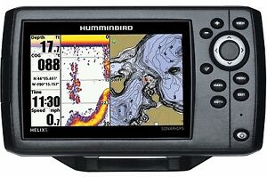hummingbird fish finder gps plotting combo sonar transducer helix, Fish Finder