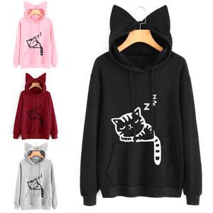 Casual-Women-Cat-Ear-Hoodie-Sweatshirt-Hooded-Coat-Tops-Long-Sleeve-Blouse-Tops