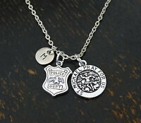 Police Necklace, Police Jewelry, Police Wife, Police Woman - Personalized