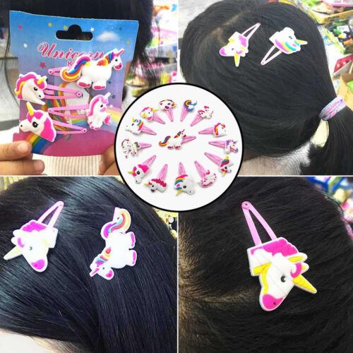 Cartoon Unicorn Hair Clips Animals Hairpins Hair Accessories Kids Girls Headwear