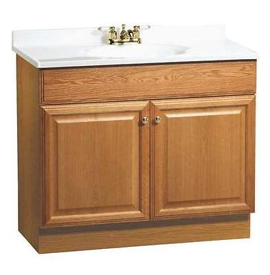 "RSI Richmond 36"" Oak Finish Bathroom Vanity w/ Two Doors ..."