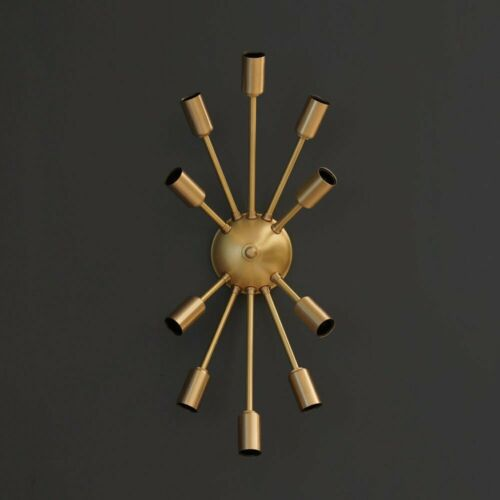Sputnik Wall Lamp Modern Brass 10 Arm Light Sputnik Light Wall Sconce Fixture