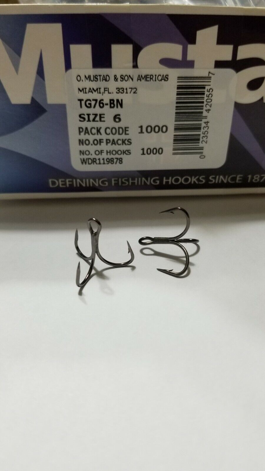 Mustad Kvd Elite Triple Grip Hook Tg76bn For Sale Online Ebay