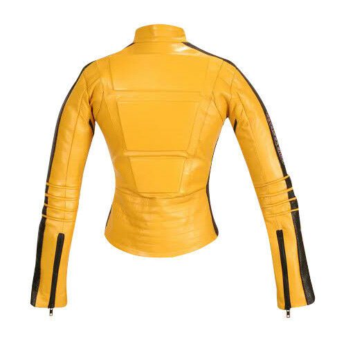 Two Cowhide Yellow Suit Leather Kill Piece Woman Bill Movie New Motorcycle wxXB8qnI