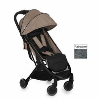 Hauck Melange Beige / Caviar Swift Pushchair Stroller Baby Buggy With Raincover