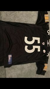 48a606e148f Pittsburgh Steelers Joey Porter 55 NFL On Field Jersey Mens Reebok ...