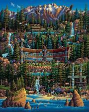 DOWDLE FOLK ART COLLECTORS PUZZLE OLYMPIC NATIONAL PARK 500 PCS #00363